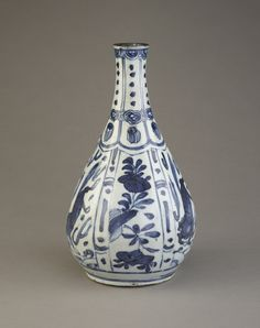 Blue-and-White Bottle, late 16th-early 17th century, Ming dynasty (1368 - 1644). Jingdezhen, Jiangxi province. Porcelain with cobalt under colorless glaze. Gift of Karol Kirberger Rodriguez. Access...