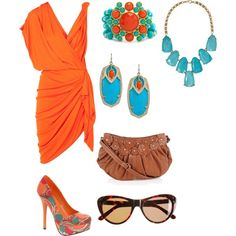i don't wear orange, but I would LOVE to have this dress in another color!