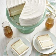 The delicate crumb of this classic white cake recipe pairs well with any type of filling or frosting. 7th Birthday Cakes, Birthday Cake Flavors, Homemade Birthday Cakes, Dessert Cake Recipes, Homemade Cake Recipes, Desserts, Cupcake Recipes, Hazelnut Cake, Chocolate Hazelnut