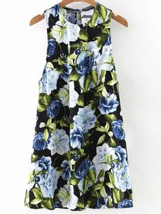 Shop Multicolor Flower Print Keyhole Back Sleeveless Dress online. SheIn offers Multicolor Flower Print Keyhole Back Sleeveless Dress & more to fit your fashionable needs.