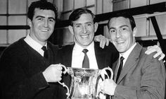 FA Cup Winners 1962: Bobby Smith, Danny Blanchflower, Jimmy Greaves.