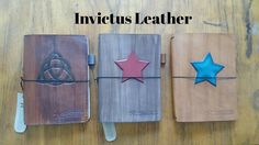 Handmade Leather Journals #invictusleather  #leatherjournal  #travellersjournal   Visit us at: www.facebook.com/invictusleather