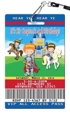 Knights Birthday Invitations