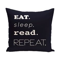 E by Design My Mantra Word Print 18-inch Outdoor Pillow