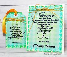 Neat Nook Creations: CardMaker Magazine & Quietfire Design Blog Hop ~ Card & Gift Tag