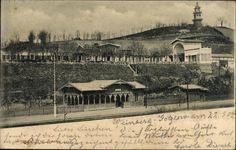 Gotzlow Kreis Randow bei  Stettin Pommern, Blick auf den Bahnhof, Gleisseite