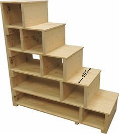The BIG SKY bunk beds ---- loft bed bunk bed frame full bed king size bed frame room furniture adult bunk beds queen bunk bed full bunk beds 24 DIY bunk bed ideas with Dorm Bunk Beds, Full Bunk Beds, Kids Bunk Beds, Loft Beds, Bunk Bed Steps, Bunk Beds With Stairs, Step Shelves, Stair Plan, Loft Bed Plans