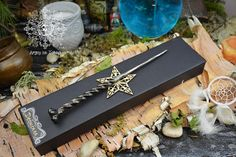 Magic wand made under the fire of the forge, and hammered by hand in the fifth element (metal) named Adtaythoth Witch Wand, La Forge, Pagan Art, Wiccan, Witchcraft, Magick, Unique Gifts, Handmade Gifts, Etsy Handmade