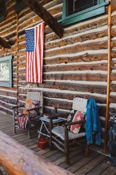 Cabin Fever Cozy Colorado cabin porch in Ralph Lauren style! How Soundproofing Material Works Sound Soundproofing Material, Colorado Cabins, Log Cabin Living, Floor Insulation, Cabin Porches, Hunting Cabin, Home Studio Music, Ralph Lauren Style, House On The Rock
