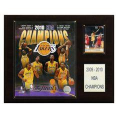 NBA 12 x 15 in. Lakers 2009-10 NBA Champions Plaque - 1215NBA10