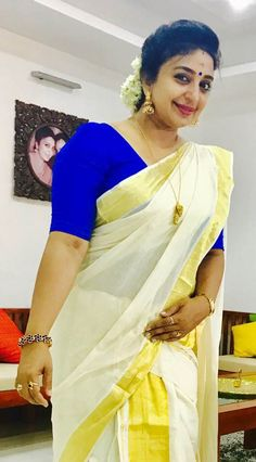 View Sona Nair Hot Photos In Kerala Set Saree Includes Sona Nair Latest HD Photo Gallery Hottest Pics Beautiful Girl Indian, Most Beautiful Indian Actress, Beautiful Saree, Silk Smitha, Kasavu Saree, Sarees, Set Saree, Aunty In Saree, Kerala Saree