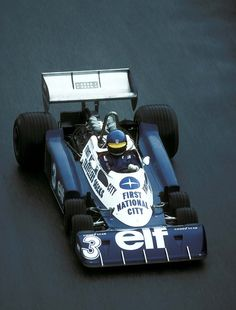 Ronnie in the Tyrrell 6-wheeler