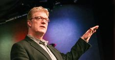 Ken Robinson: How schools kill creativity. Sir Ken Robinson makes an entertaining and profoundly moving case for creating an education system that nurtures (rather than undermines) creativity. Ken Robinson, Education System, Art Education, Values Education, Montessori Education, Primary Education, Most Popular Ted Talks, Types Of Intelligence, Revolution
