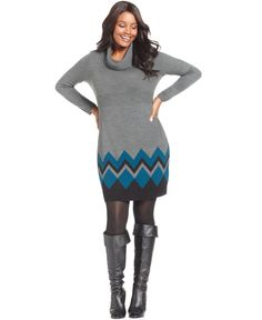 Extra Touch Plus Size Short-Sleeve Striped Sweater Dress - Plus ...