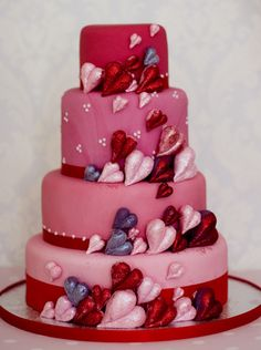 Hearts Cake, Valentine's Day.