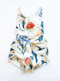 Cheap baby romper summer, Buy Quality newborn baby rompers directly from China baby rompers Suppliers: new design Baby Clothes Newborn Baby Romper summer Baby Girl Boy Clothes Costume Overalls floral tassel Baby Clothing My Baby Girl, Handgemachtes Baby, Baby Kids, Fachion Girl, Baby Newborn, Camo Baby, Fashion Kids, Baby Girl Fashion, Fashion Clothes