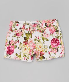 Look at this So Nikki Floral Denim Shorts on #zulily today!