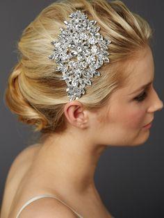 Glamorous! Bold Crystal Sunburst Bridal Headpiece Mariell 4387H-S - Affordable Elegance Bridal -