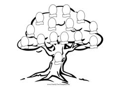 Cut out pictures of family members and decorate the branches of
