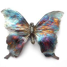 Motyl – srebrny wisior – TYLKO NA ZAMÓWIENIE