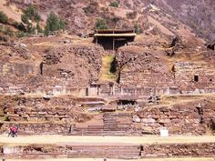 Chavin de Huantar -- A wide view of the facade and entrance to this enigmatic complex.