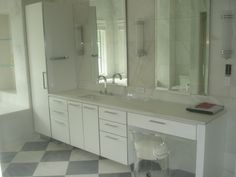 Bathroom Cabinetry with Vanity Area