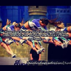 If I had to choose between being on a tropical beach all day under the sun or being sweaty at a gym doing cheer all day, I'd take cheer. unless of course the cheer is on the beach ; Cheerleading Photos, Cheer Stunts, Cheer Dance, Cheer Athletics, Cheerleader Quotes, Cheer Qoutes, Cheer Team Pictures, Squad Pictures, Varsity Cheer