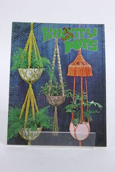 6 Macrame Instruction Pattern Booklets Knot Tying References Projects 1970's