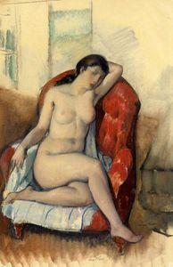 Desnudo sentado Leon Kroll - ( Portafolio )