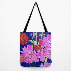 Oriental Bloom // Canvas Tote // Bag by MarcellaWylie on Etsy, £26.00