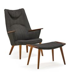 HANS WEGNER / Lounge chair and ottoman