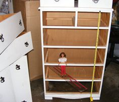 Building a Barbie Doll House With a Recycled Dresser from Just'In Designs