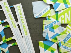 2012 AIGA MN Design Show Call For Entries designed and letterpressed by Studio on Fire