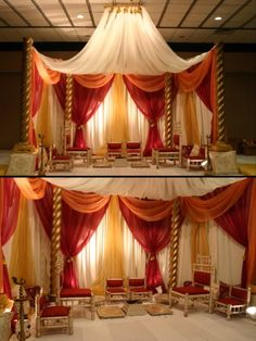 Indoor mandap #mandapstyle #indianweddinginspiration #indianweddingmandaps
