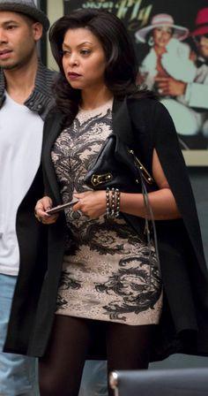 Dress & cape. Wardrobe of Empire's Cookie Lyon. #therealTaraji #nominateforanemmy #deservesanemmy
