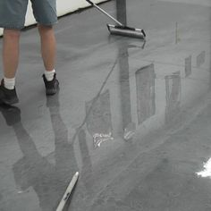 Garage Floor Epoxy from Garage Flooring. From kits to individual coatings, we can help you through your concrete coating project! Garage Floor Mats, Garage Floor Epoxy, Shower Door Hardware, Garage Floor Coatings, Metallic Epoxy Floor, Diy Epoxy, Patio Interior, Epoxy Coating, Floor Colors