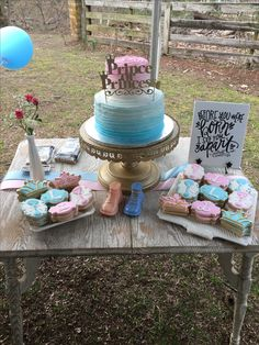 Prince or Princess reveal cake Firework Gender Reveal, Gender Reveal Games, Pregnancy Gender Reveal, Gender Reveal Party Decorations, Pregnancy Photos, Gender Party, Baby Gender Reveal Party, Basketball Baby Shower, Baby Reveal Cakes