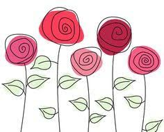 Image result for flores dibujos a color png