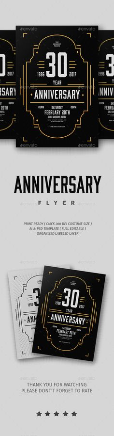 Anniversary Flyer — Photoshop PSD #music #dance • Available here → https://graphicriver.net/item/anniversary-flyer/19327096?ref=pxcr