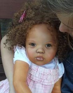 Toddler Reborn Girl Ethnic Biracial Doll Jamina