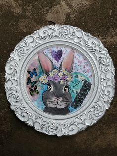 on underplate by Wilma Potgieter Farm Paintings, Decorative Plates, Bunny, Artist, Animals, Home Decor, Animales, Decoration Home, Animaux