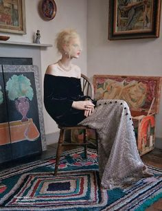 """The Lighthouse"": Virginia Woolf and Bloomsbury Group-Inspired Shoot with Julia Nobis by Ben Toms for AnOther Magazine"