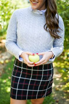 Preppy Apple Picking Look | Covering the Bases | Fashion and Travel Blog New York City