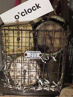 Clocks – Decor : Junkin Addict -Read More – Old Clocks, Antique Clocks, Vintage Clocks, Alarm Clocks, Vintage Love, Vintage Decor, Vintage Tea, Tick Tock Clock, Clock Decor