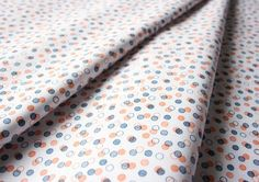 Fabric Finders #1338 Orange Navy Dots