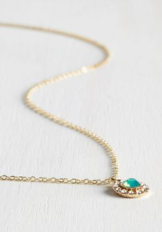 Delicate Drop Necklace in Mint. Tonights the night for you to show your mixology skills at a craft cocktail tasting! #blue #wedding #bridesmaid #bride #modcloth