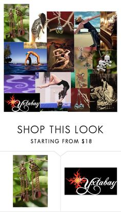 """Wear Something Dangly When You're Bending Over Backwards"" by yxtabay ❤ liked on Polyvore featuring jewelry, pocpolyvore and Yxtabay"