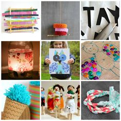 fabric crafts for kids post. Great format for a round-up post.