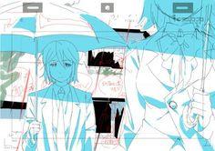 Yoru no Yatterman ED layouts by Kikuko Sadakata.