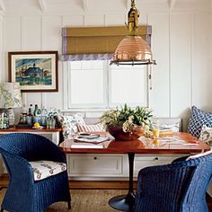 10 Beautiful Beach Cottages | Cozy Dining Room | CoastalLiving.com